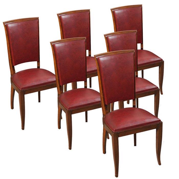 Burgundy Leather Dining Room Chairs