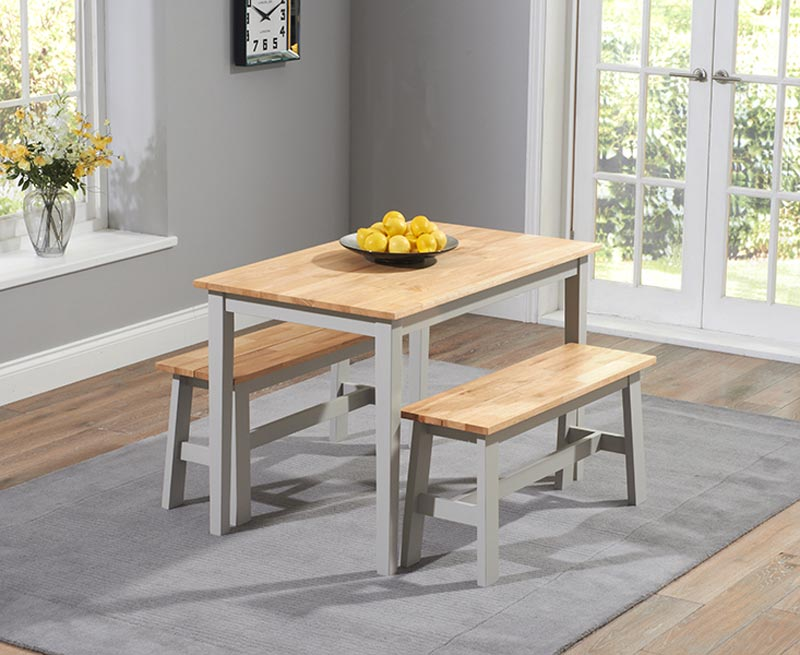 Chiltern Dining Table With 2 Benches