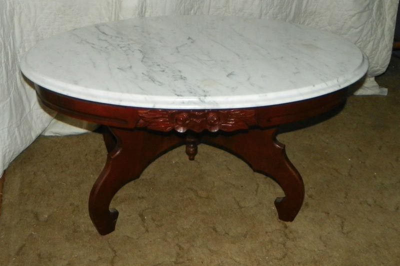 Mahogany Carved Coffee Table