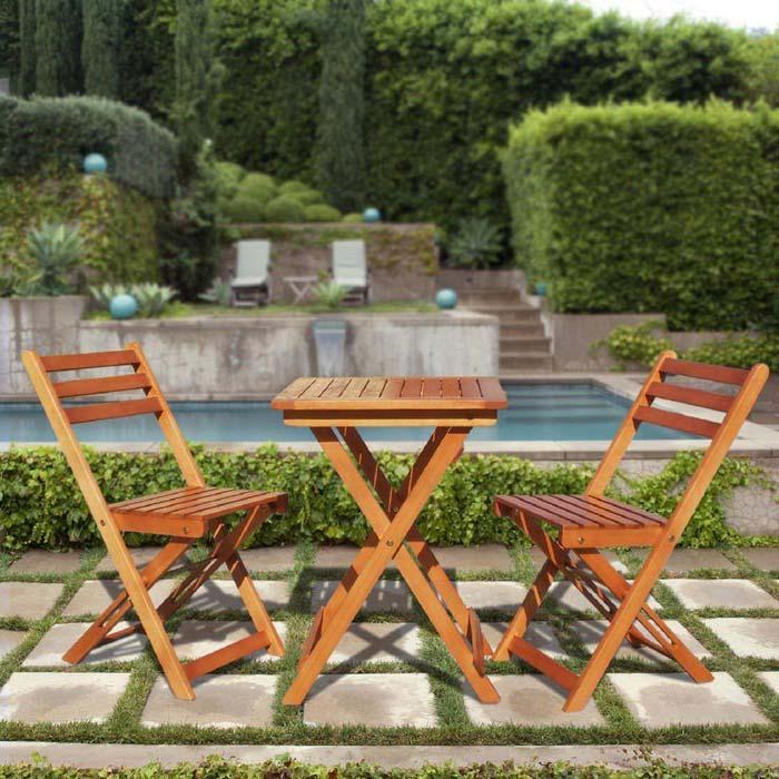 Wooden Garden Bistro Sets