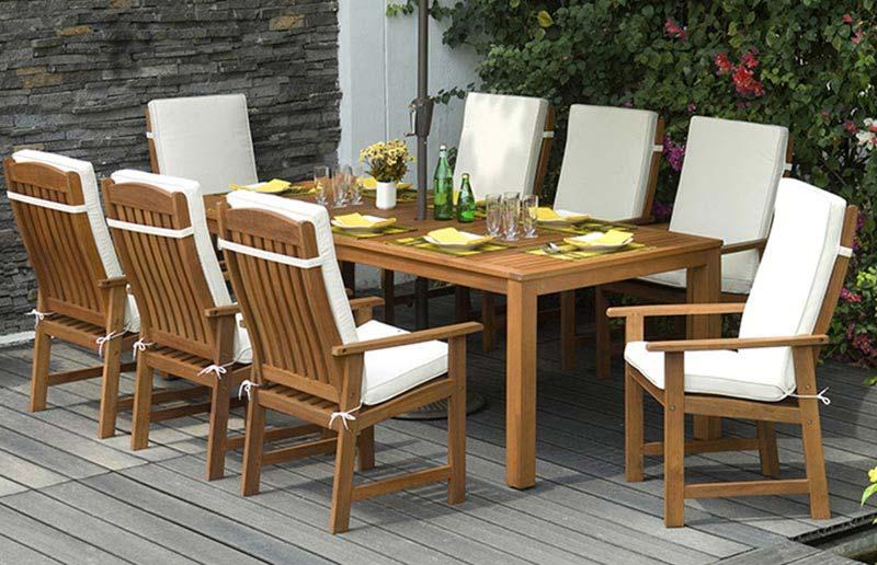 Wooden Garden Furniture 8 Seater