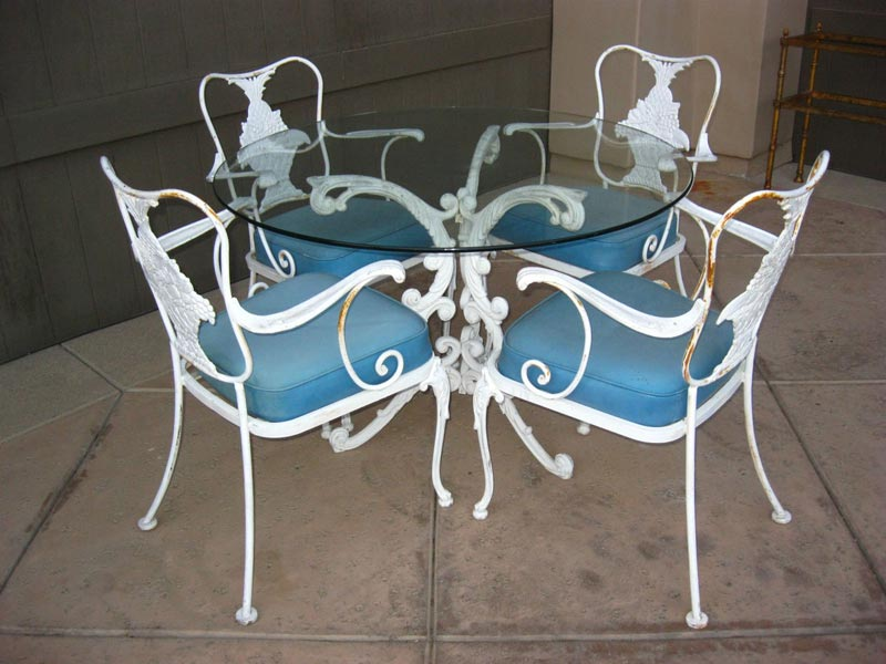 French Country Wrought Iron Dining Chairs