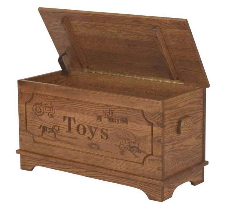 carve box made of wood solid