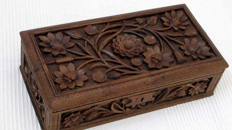 carved boxes made of wooden australia