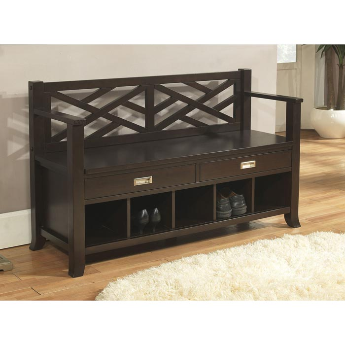 hall shoe storage bench with seat