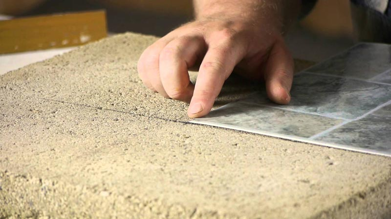Laying Self Adhesive Vinyl Floor Tiles