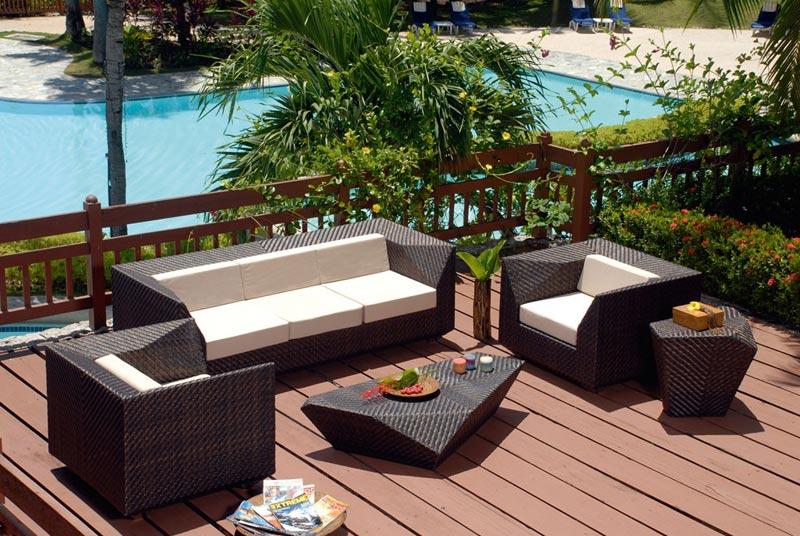 3 seater outdoor rattan sofa
