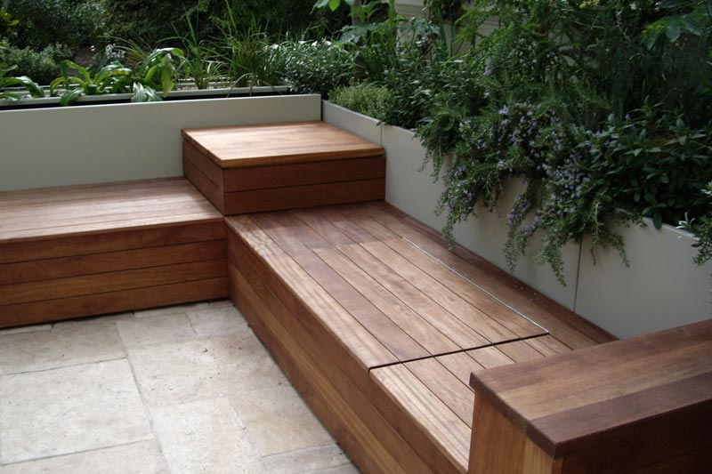 Outside Storage Benches