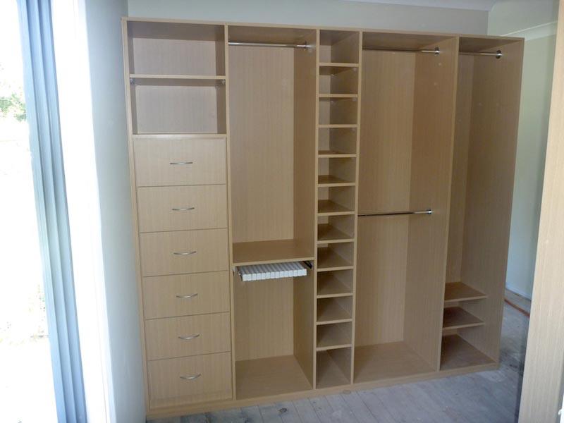beech wardrobe shelves