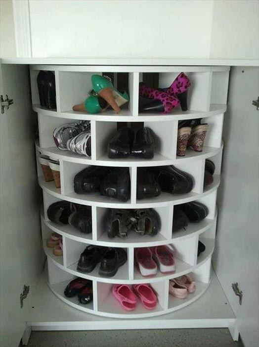 corner shelving for shoes
