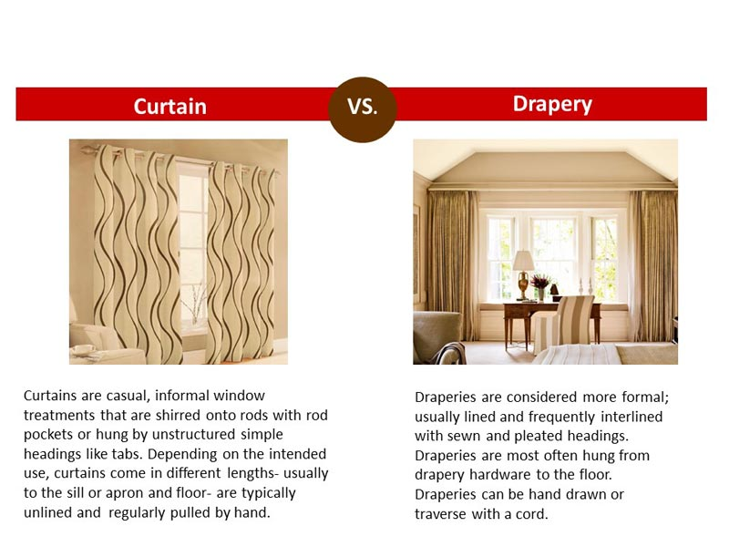 curtains vs drapes difference