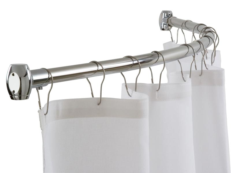 curved shower curtain rods walmart