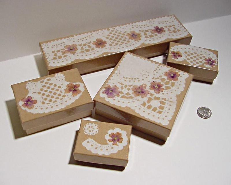 decoupage cardboard boxes