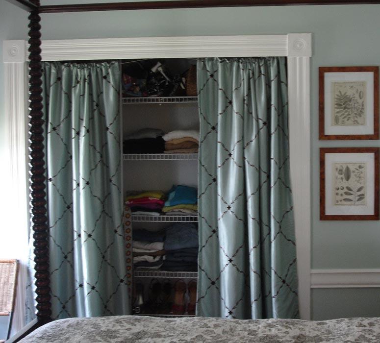 diy closet curtain ideas