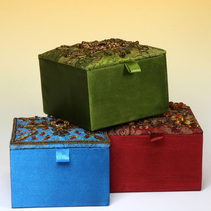 embroidered jewelry boxes
