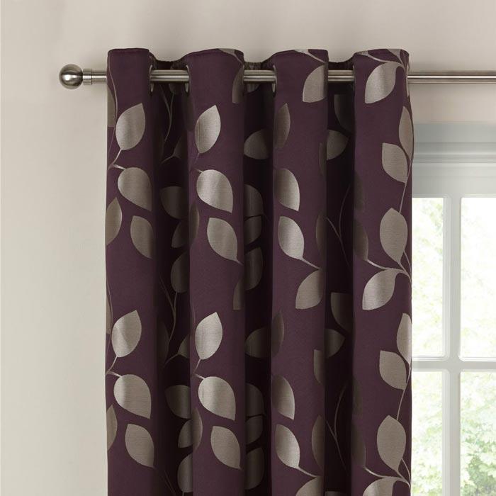 john lewis xanthia trail eyelet curtains cassis