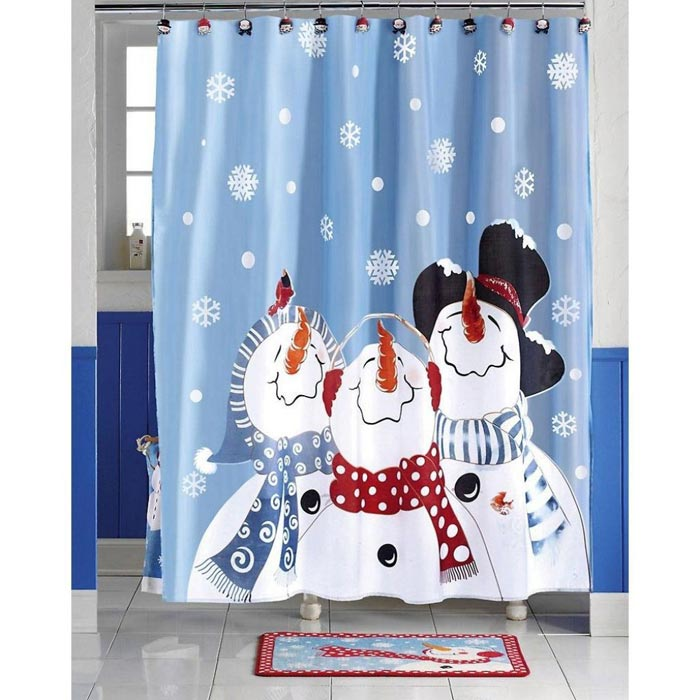 kmart holiday shower curtains