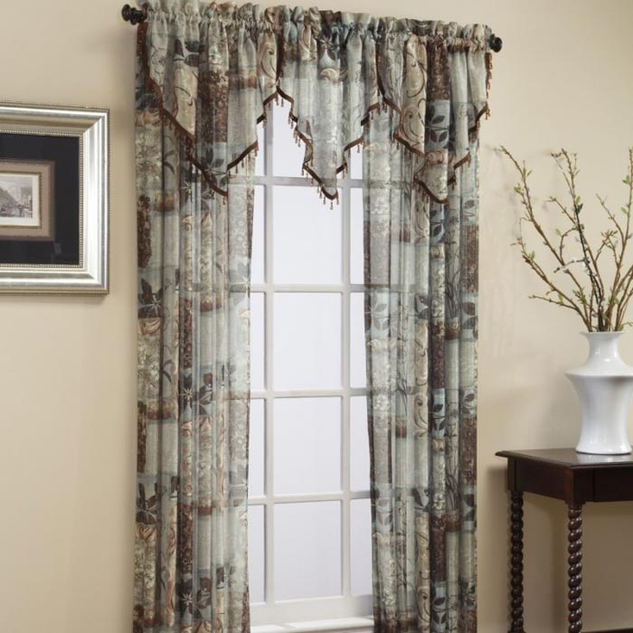 kohls curtains and valances jcpenney