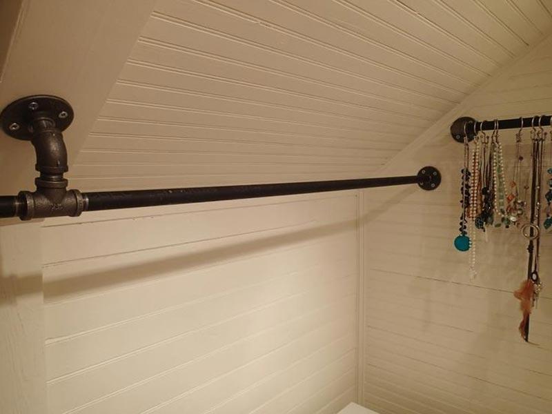 closet rod bracket for sloped ceiling
