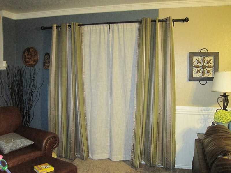 curtain and sheers on same rod