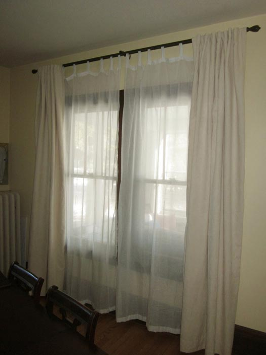 curtains and sheers on the same rod