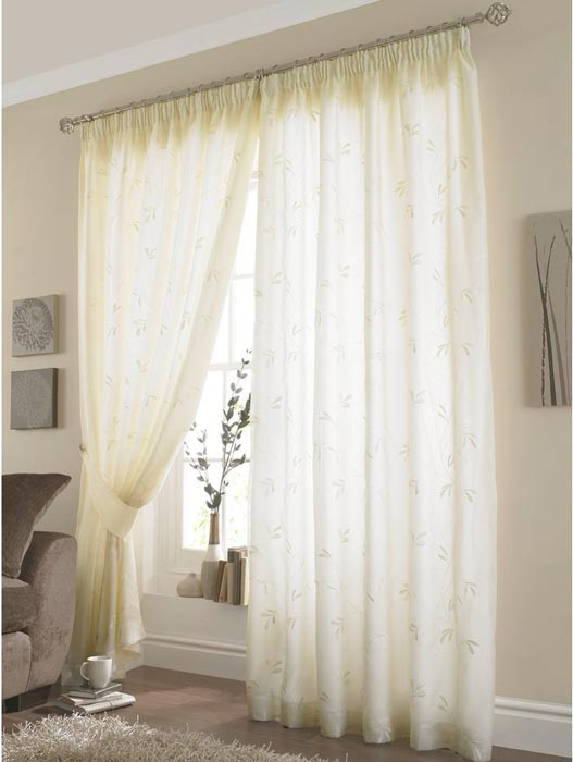 dunelm lined voile curtains