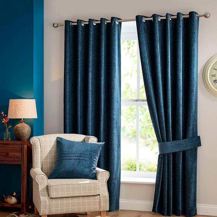 dunelm mill chenille curtains
