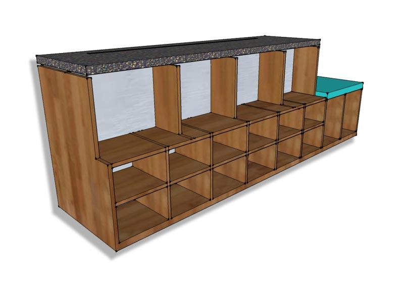 entryway shoe storage bench plans