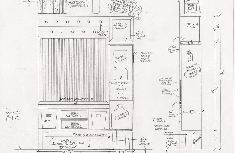 entryway storage bench coat rack plans