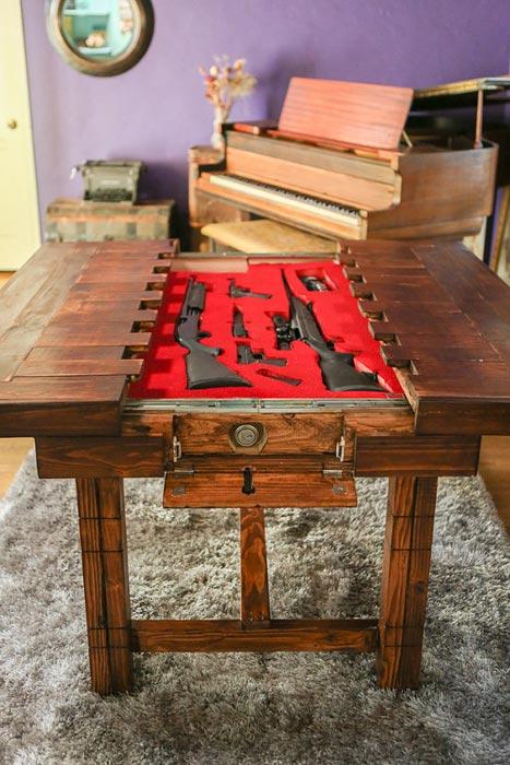 gun cabinet coffee table ebay