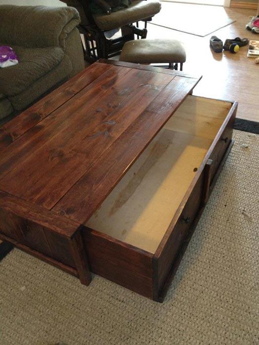 gun cabinet coffee table ideas