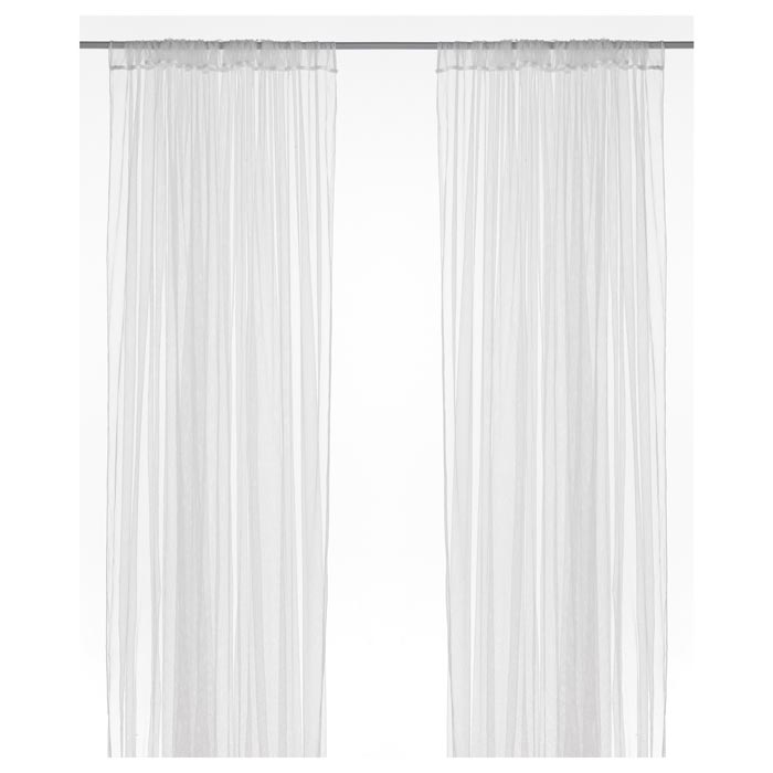 ikea white voile curtains