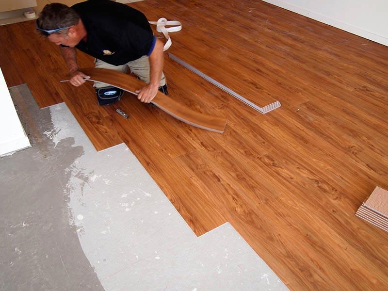 laying vinyl laminate flooring