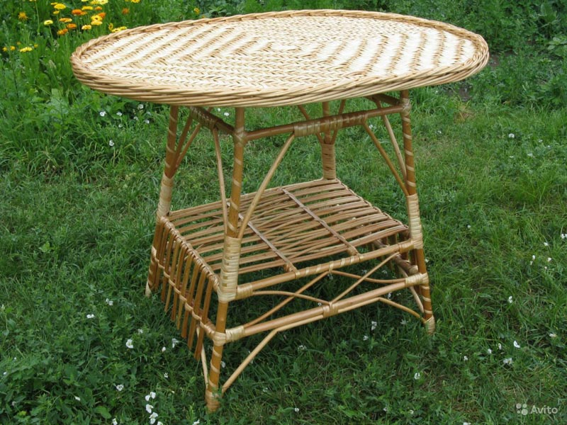 round rattan coffee table book