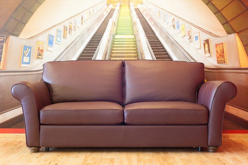 6 foot leather sofa