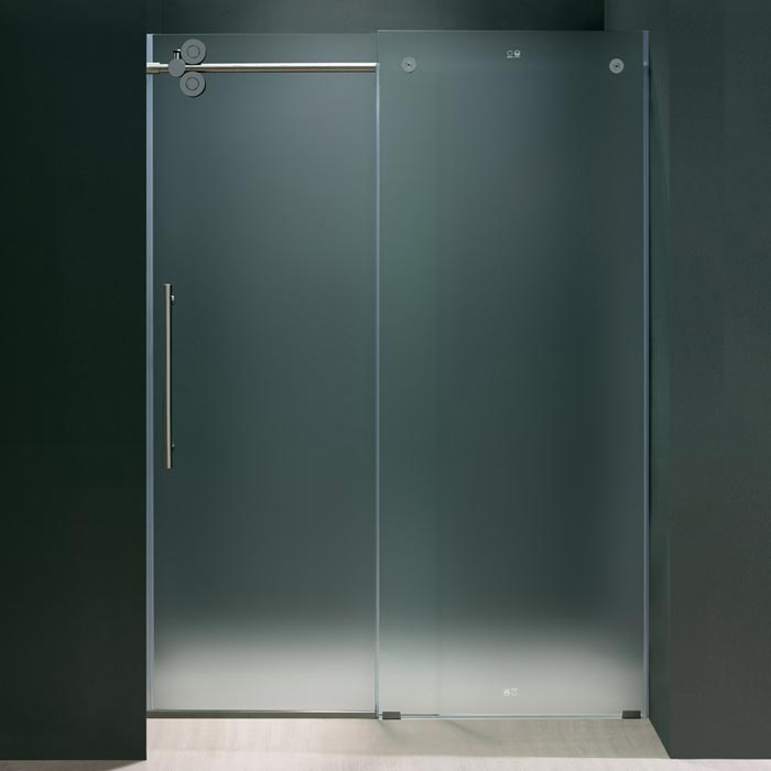 bi fold shower doors with frosted glass