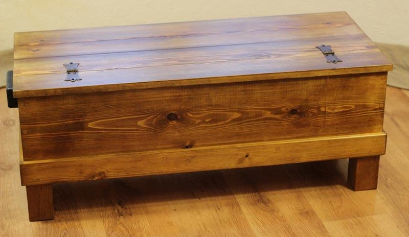 buy rustic trunk coffee table