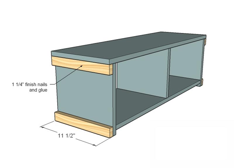 entry bench with shoe storage plans