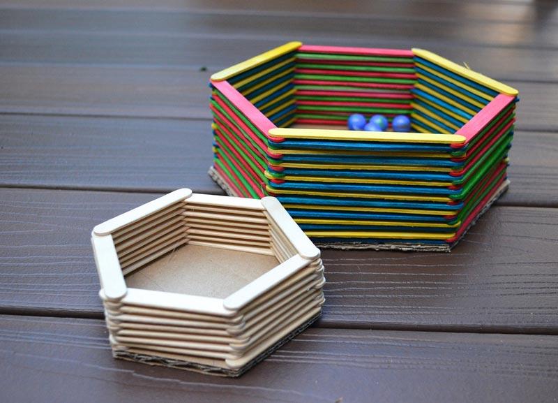 how to make a jewellery box with ice cream sticks