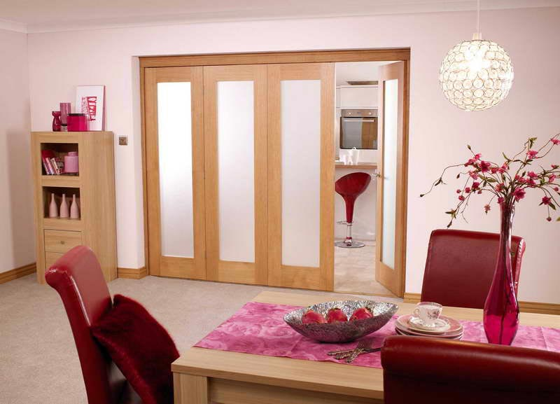 interior frosted glass bifold doors