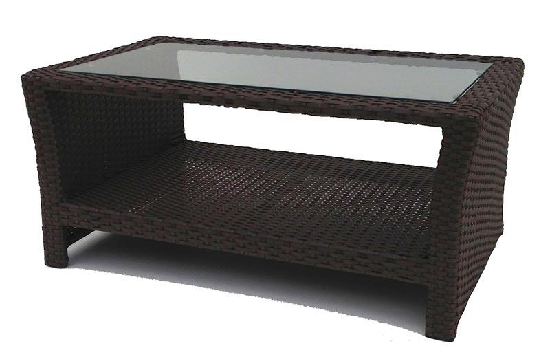 mainstays steel wicker coffee table honey brown
