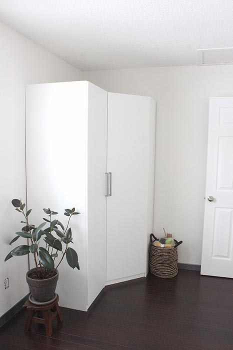 pax wardrobe corner unit