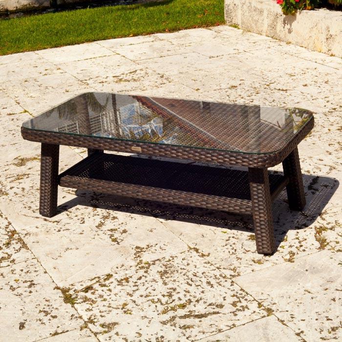resin wicker coffee tables