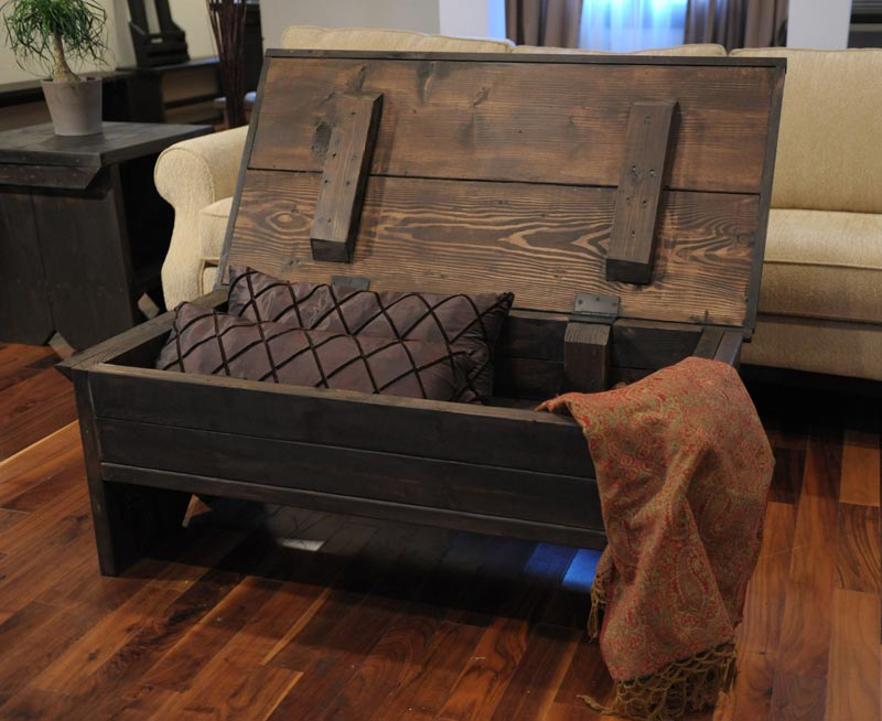 rustic mexican trunk coffee table