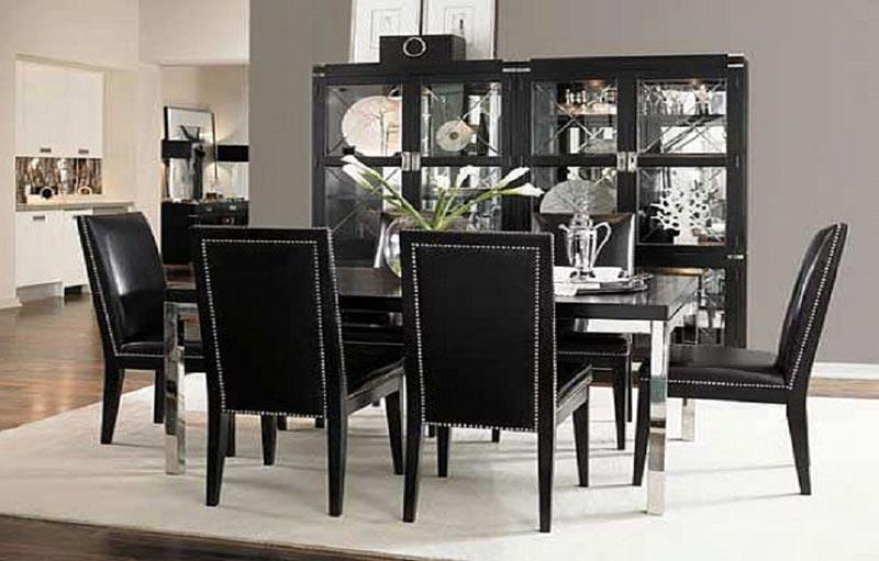 black dining room furniture decorating ideas