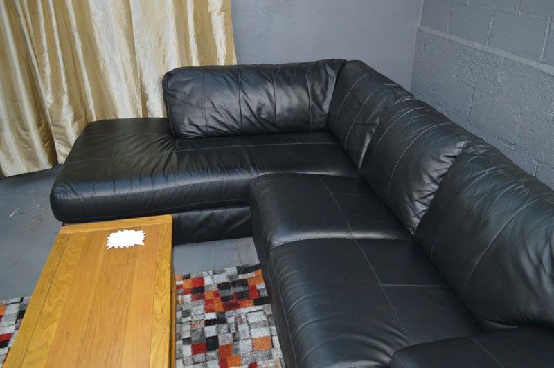 black leather sofa bed argos