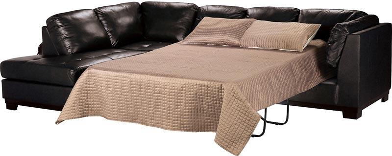 black leather sofa bed canada