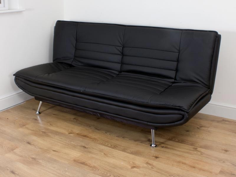 black leather sofa bed cheap