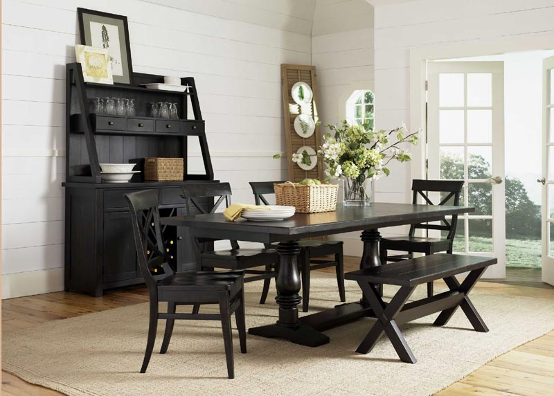 dining room table and bench set