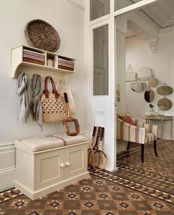 small hallway benches storage